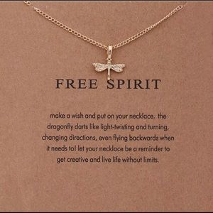 Jewelry - GOLD DIPPED DRAGONFLY FREE SPIRIT MINIMALIST